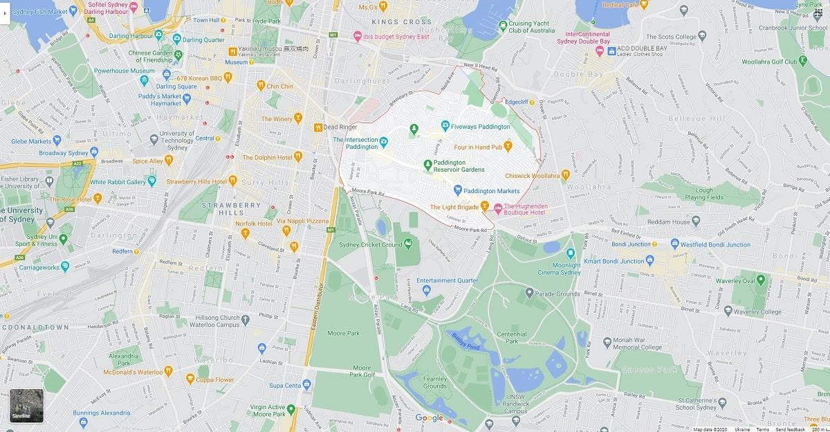 paddington map